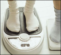 photo of a scale with feet